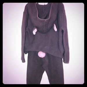 Two piece bunny sweater and sweater pants